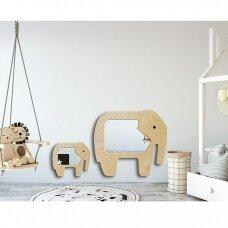 Veidrodis Ruke ELEPHANT (dydžių ir spalvų pasirinkimas)