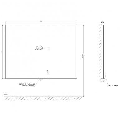 Veidrodis Alix LED 7