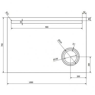 Veidrodis ASTRO su LED apšvietimu 9