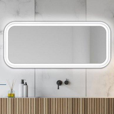 Veidrodis Ruke Mira Light su LED apšvietimu (spalvų ir dydžių pasirinkimas) 4
