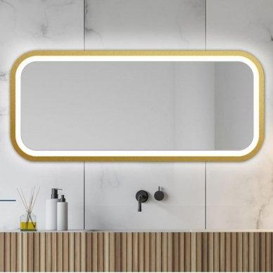 Veidrodis Ruke Mira Light su LED apšvietimu (spalvų ir dydžių pasirinkimas) 3