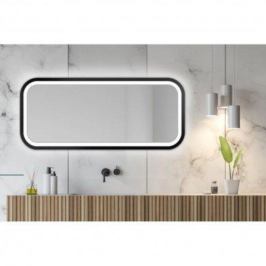 Veidrodis Ruke Mira Light su LED apšvietimu (spalvų ir dydžių pasirinkimas) 2