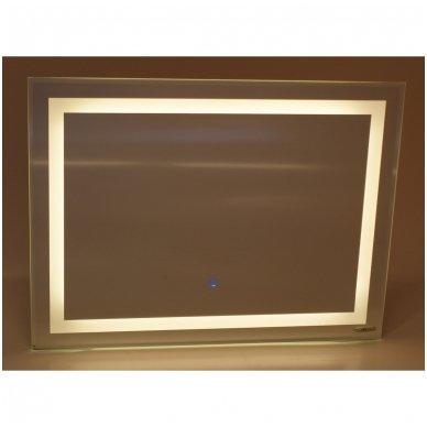 "Veidrodis ""Square Line Standart"" su LED apšvietimu ir sensoriniu jungikliu 3"