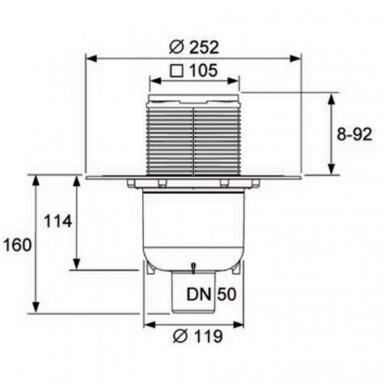 Vertikalaus trapo komplektas Tece Drainpoint S 130 3