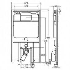 Viega potinkinis WC rėmas 8 cm storio su tvirtinimo elementais