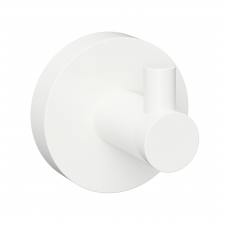 Viengubas baltos spalvos kabliukas Bemeta White