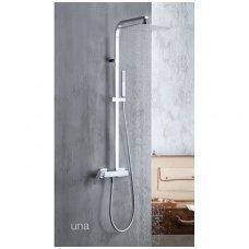 Virštinkinė dušo sistema Alpi Una18 chrome