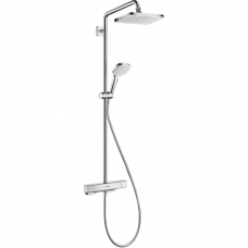 Virštinkinė termostatinė dušo sistema Hansgrohe Crome E Showerpipe 280 1jet