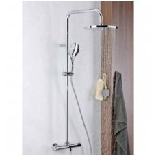 Virštinkinė termostatinė dušo sistema su apvalia dušo galva Alpi CIty Plus