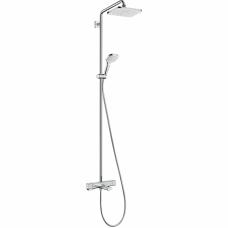 Virštinkinė termostatinė dušo/vonios sistema Hansgrohe Croma E Showerpipe 280 1jet
