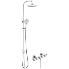 Virštinkinė termostatinė dušo sistema su stacionaria galva Omnires SYS Borneo