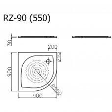 Vispool Relax baltas padėklas RZ-90