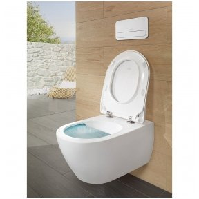 Villeroy&Boch pakabinamas unitazas Subway 2 Direct Flush, su plonu dangčiu ir C+ Ceramic Plus danga