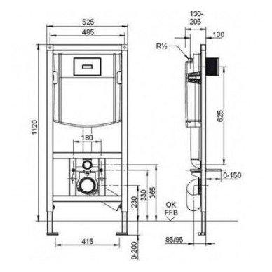 Villeroy & Boch O.Novo DirectFlush WC komplektas 8