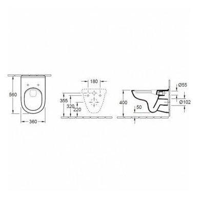 Villeroy & Boch O.Novo DirectFlush WC komplektas 7