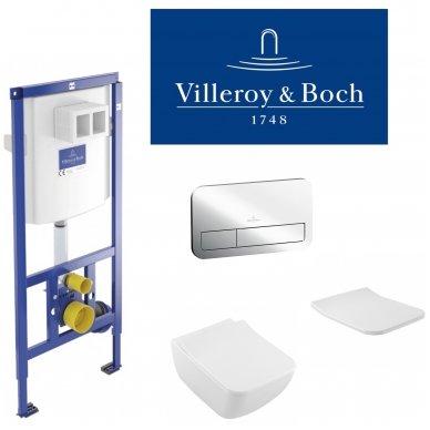 Villeroy & Boch potinkinis WC komplektas su VENTICELLO WC soft close dangčiu