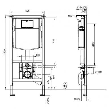 Villeroy & Boch potinkinis WC komplektas su VENTICELLO WC soft close dangčiu 6