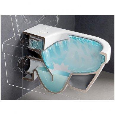Villeroy & Boch Subway 2.0 pakabinamas Direct Flush WC su SlimSeat dangčiu, White Alpin 4