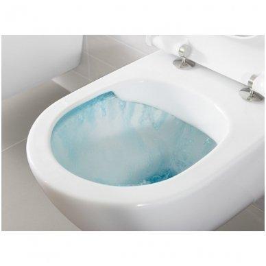 Villeroy & Boch Subway 2.0 pakabinamas Direct Flush WC su SlimSeat dangčiu, White Alpin 2