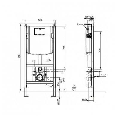 Villeroy & Boch Viconnect E200 WC potinkinis rėmas 2 in 1 4