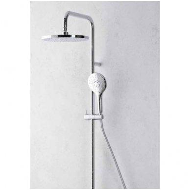 Virštinkinė termostatinė dušo sistema su apvalia dušo galva Alpi CIty Plus 3