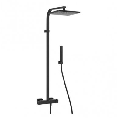 Virštinkinė termostatinė dušo sistema Alpi Una18 (balta/juoda/nikelis)