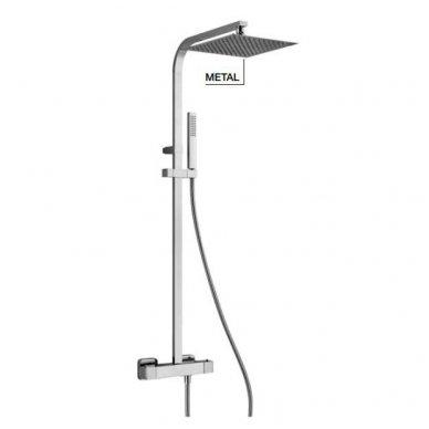 Virštinkinė termostatinė dušo sistema Alpi Una18 chrome