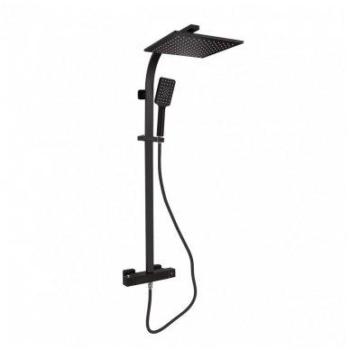 Virštinkinė termostatinė dušo sistema Sapho LATUS II BLACK