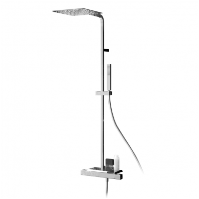 Virštinkinė termostatinė dušo sistema su lentynėle Alpi Naboo