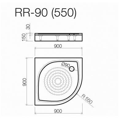 Vispool Relax baltas padėklas RR-90 2