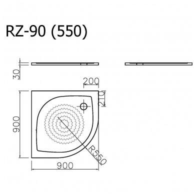 Vispool Relax baltas padėklas RZ-90 2