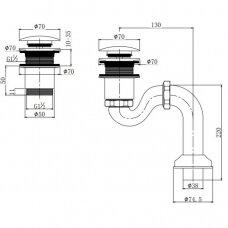 Vonios sifonas Omnires W10/BR