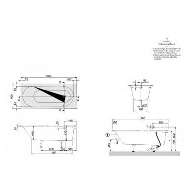 Vonia Villeroy & Boch Oberon iš Quaryl medžiagos 7