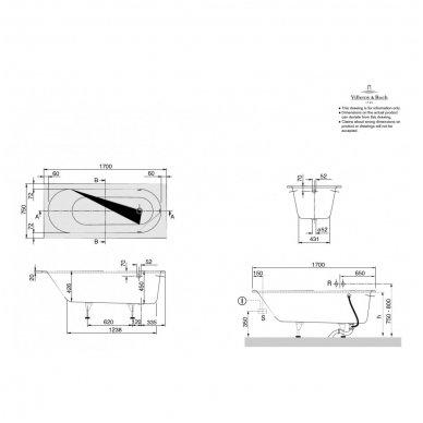 Vonia Villeroy & Boch Oberon iš Quaryl medžiagos 8