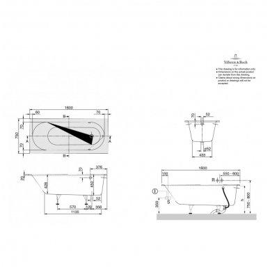 Vonia Villeroy & Boch Oberon iš Quaryl medžiagos 10