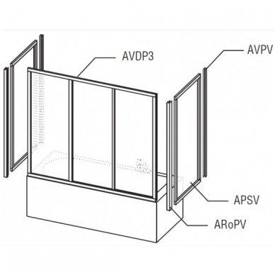 Vonios sienelė Ravak APSV 3