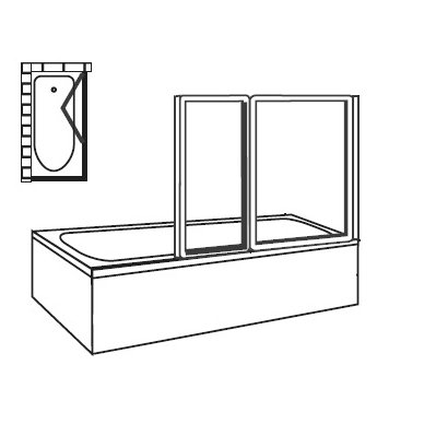 Vonios sienelė Ravak VS2 105 5