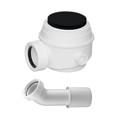 Vonios sifonas be persipylimo WB01XBL (juodas matinis)