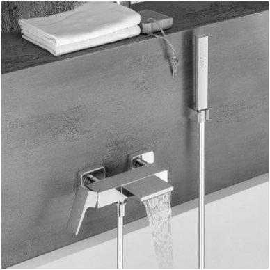 Vonios/dušo maišytuvas su snapu (kaskada) Alpi Una18