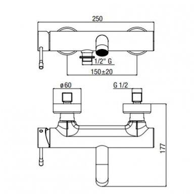 Vonios/dušo maišytuvas su snapu Alpi Blue 4