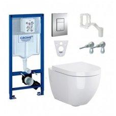 WC rėmo Grohe Rapid SL ir pakabinamo klozeto Opoczno Urban Harmony CleanOn komplektas