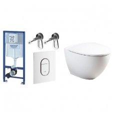 WC rėmo komplektas GROHE Rapid SL ir Geberit Sign Art su soft-close dangčiu