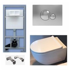 WC Rėmo Sanit ir pakabinamo klozeto Alice Ceramica Unica Rimless komplektas