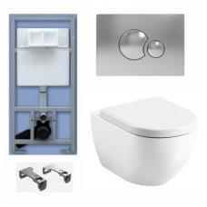 WC Rėmo Sanit ir pakabinamo klozeto Ravak Uni Chrome Rim komplektas