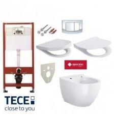 WC rėmo TECE ir pakabinamo klozeto Opoczno Urban Harmony CleanOn komplektas