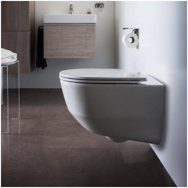 WC rėmo Grohe, mygtuko Nova Cosmopolitan ir klozeto Laufen Pro New su plonu lėtaeigiu dangčiu komplektas 4