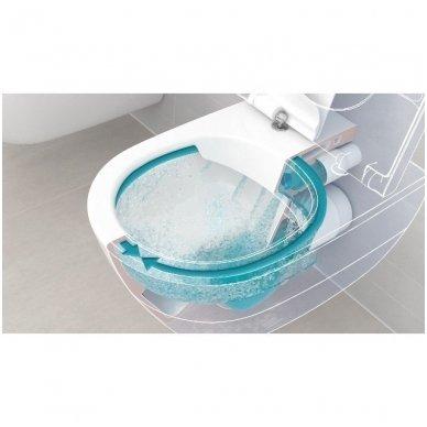 WC rėmo Sanit, chromuoto mygtuko ir klozeto Villeroy & Boch Subway 2.0 DirectFlush su plonu lėtaeigiu dangčiu komplektas 8