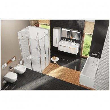 WC Rėmo Sanit ir pakabinamo klozeto Ravak Uni Chrome Rim komplektas 5