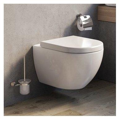 WC Rėmo Sanit ir pakabinamo klozeto Ravak Uni Chrome Rim komplektas 2