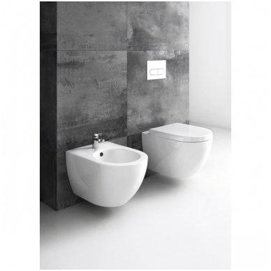WC Rėmo Sanit ir pakabinamo klozeto Ravak Uni Chrome Rim komplektas 7